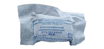 Пакет перевязочный индивидуальный (ИПП-1)