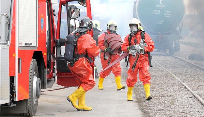 Работа спасателей при ликвидации последствий ЧС