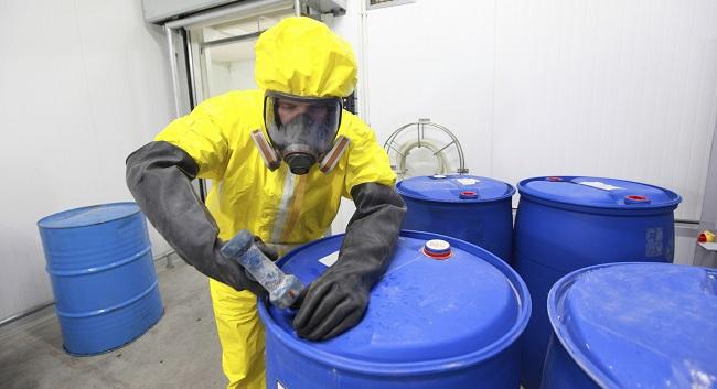 работа с химически опасными веществами
