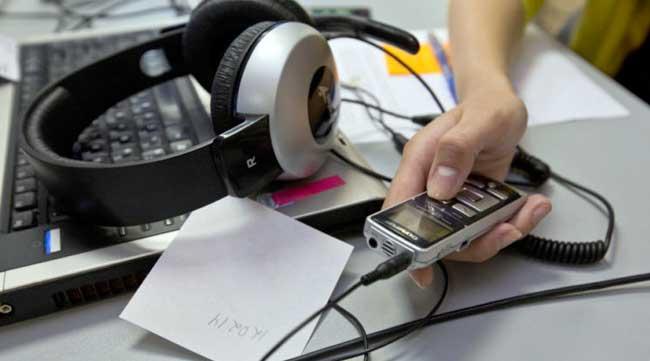 применение диктофона во время инструктожа по ОТ