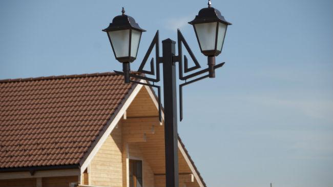 установка уличного светильника и особенности